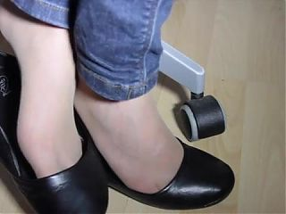 Giorgias shoeplay in naylon and Black Ballet Flats