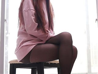 Black stocking legs.